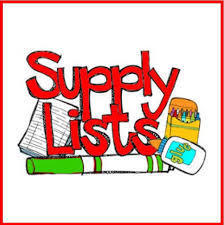 Winfield Elementary School supply lists