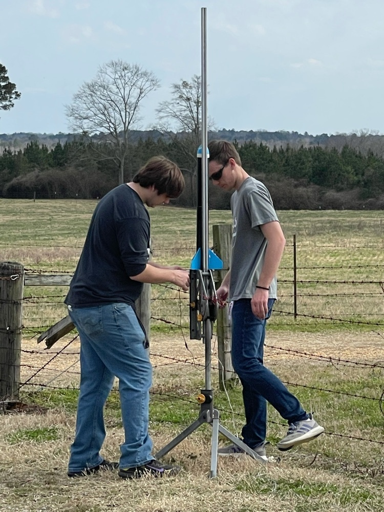Sam Cantrell and Chris Cagle preparing for launch.