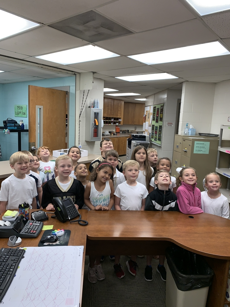 Mrs. Dodd's 1st-grade class did a fantastic job leading WES in the Pledge if Allegiance this morning!