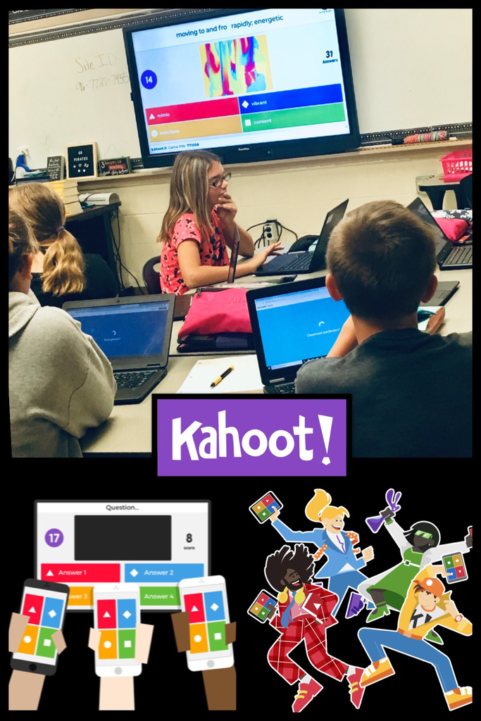 Ms. Langley's class participating in vocabulary review by playing Kahoot.