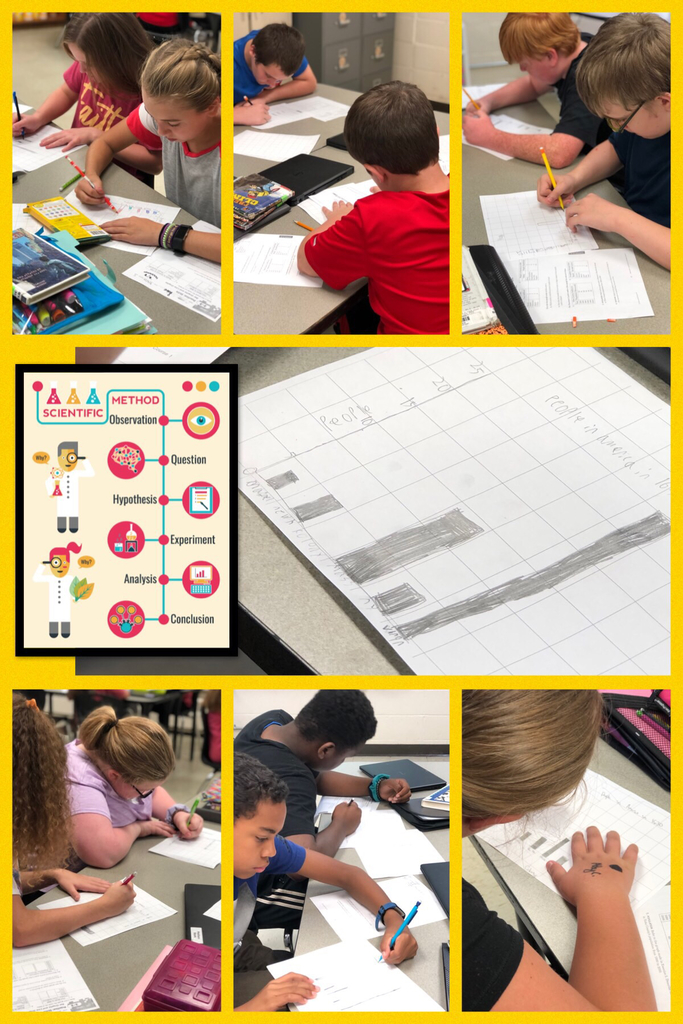 "Graphing for ""SCIENTIFIC METHOD"" in Mrs. Smith's 6th grade Science Class. 🧪 🧫 🧬"