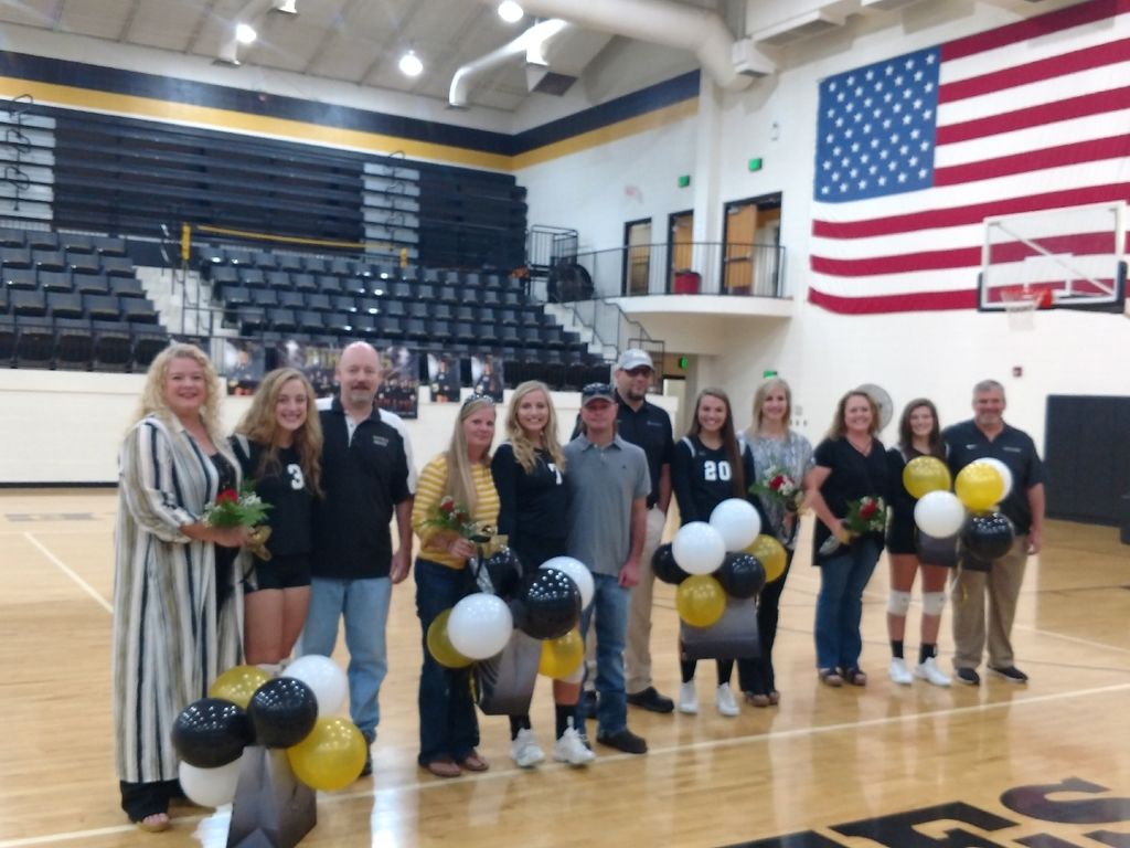Senior night for Winfield Volleyball!