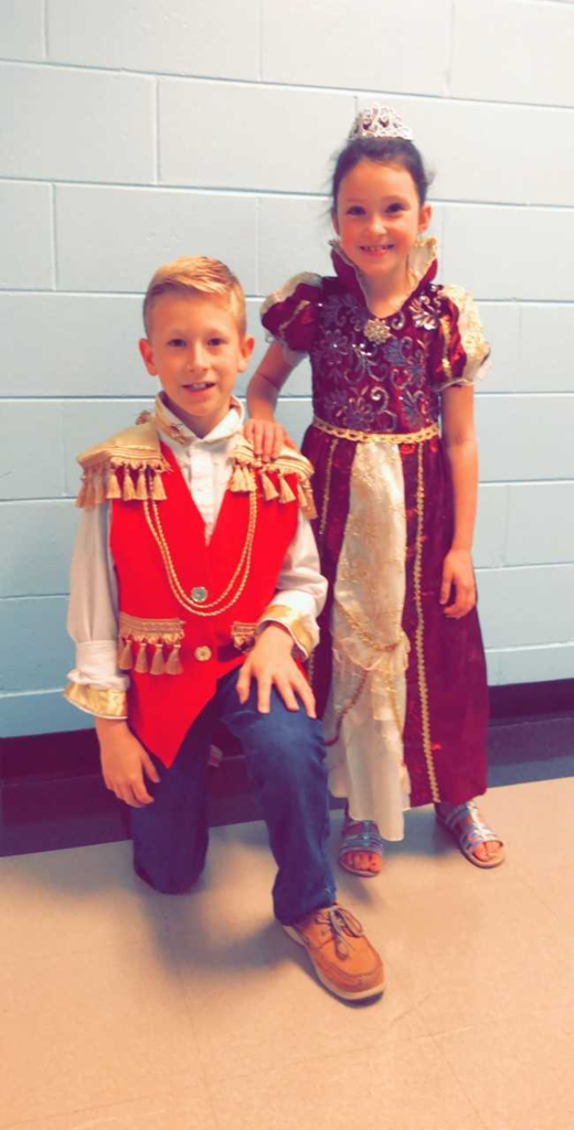 WES 3rd graders in their Renaissance Faire attire.