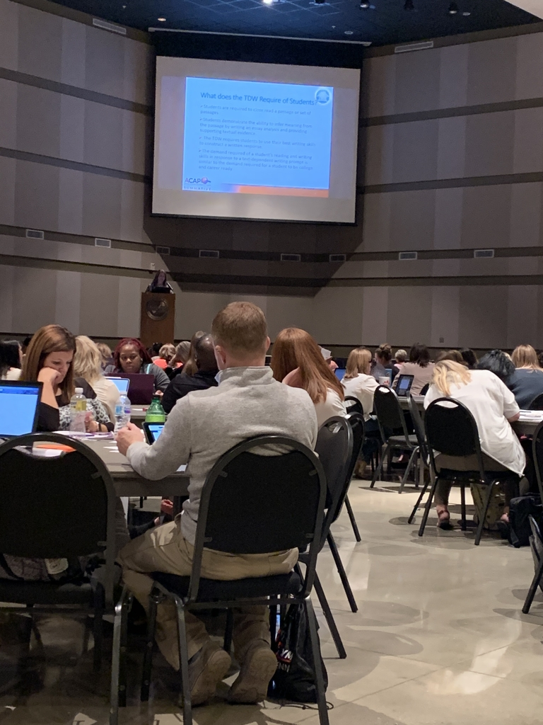 Mrs. Aldridge, Mrs. Long, and Mrs. Shipp attend the Alabama Comprehensive Assessment Program Summative Roadshow with other administrators, educators, and testing coordinators throughout the state.