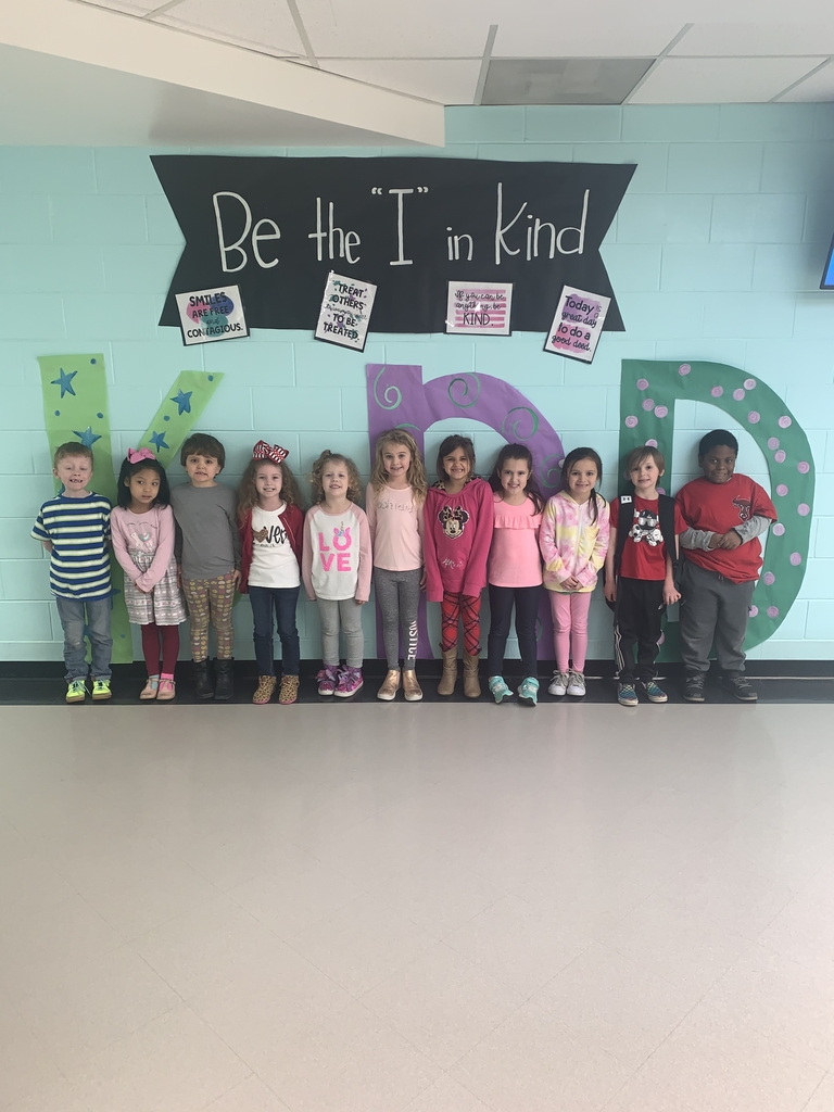 It's Kindness Week and Mrs. Woodley's class is showing their love by wearing red and pink!