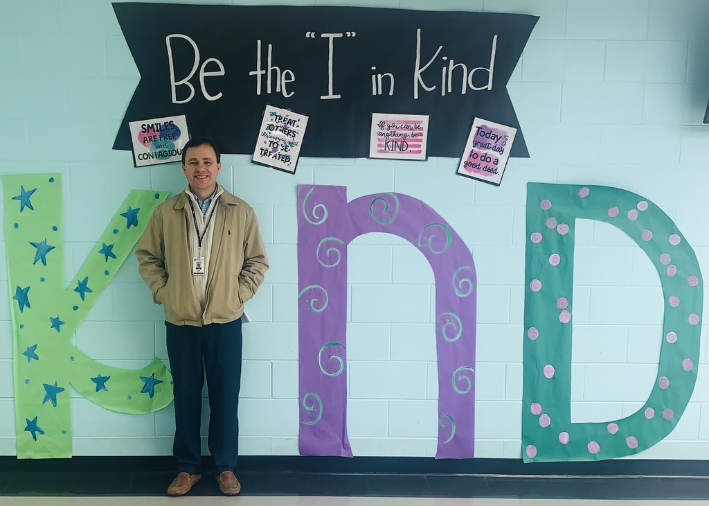 "Mr. Cook being the ""I"" in KIND at WES."